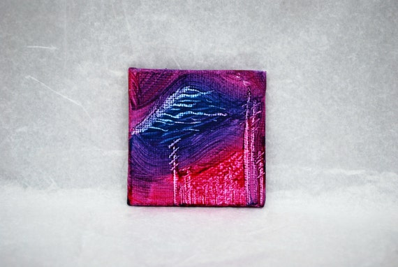 Original Mini Painting - Canvas Painting - One Of A Kind Fridge Magnet