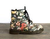 SALE Size 9 Floral Doc Marten's Boots 90's grunge