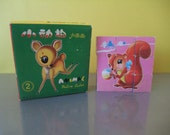 Big Eye Animal Puzzle Blocks, Picture Cube Blocks, Chinese Kawaii