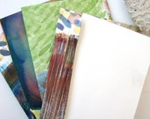 SET Abstract Cards: Watercolor Walls set of 4 unique watercolor envelopes with blank inserts gift cards or gift enclosures