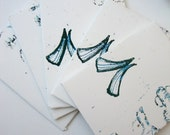 SET Abstract Cards: Amphora Pots contours set of 5 unique handprinted envelopes with blank inserts gift cards or gift enclosures