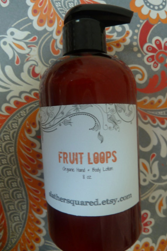 Fruit Loops and Milk - Organic Hand and Body Lotion- 8 oz
