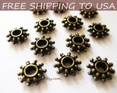 100pcs Antique Bronze Spacer Beads, size 9x3mm thick, FREE SHIPPING to USA