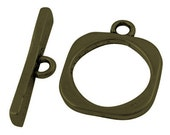 50 sets Antique Bronze Toggle Clasps - Square, 18x18mm, FREE SHIPPING within USA