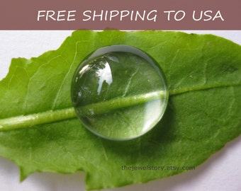 """50 pcs Clear Transparent Glass Cabochons, 18mm x 6.5mm thick,""""""""FREE SHIPPING to USA"""""""""""