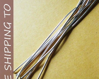 100pcs Silver Flat Headpins,  3 Inch long, 21G thick,''''FREE SHIPPING to USA''''