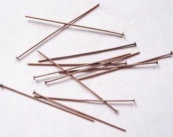 200pcs Red Copper Flat Headpins,  2 Inch long, 21G thick,''''FREE SHIPPING to USA''''