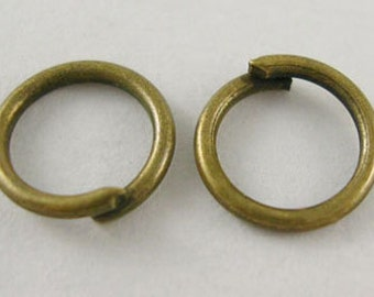 1000pcs Antique Bronze JumpRings,Unsoldered, 8mm diameter,FREE SHIPPING to USA
