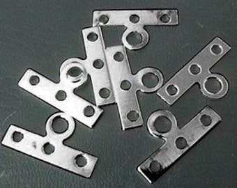 Gun Metal Terminator Spacer Bars, with 3 Holes, 200pcs, 14x7.5mm DIY Jewelry Making Supplies and Findings