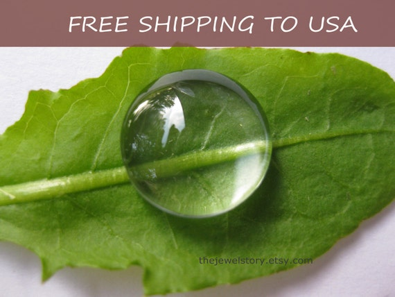 """20 pcs Clear Transparent Glass Cabochons, 18mm x 6.5mm thick,""""""""FREE SHIPPING to USA"""""""""""
