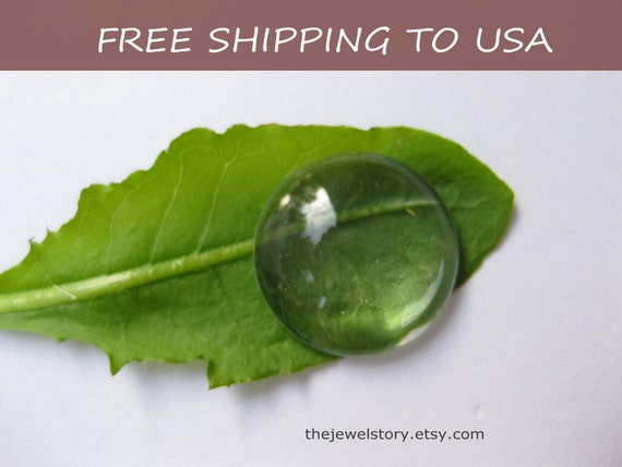 20 pcs Clear Transparent Glass Cabochons, 16x5mm thick,''''FREE SHIPPING to USA''''