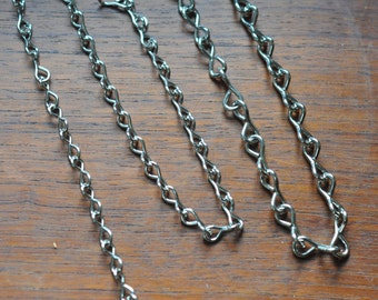 Nickel chain - 16 gauge thick - ideal for hanging terrariums - terrarium chain