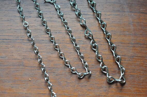 Nickel chain - 16 gauge thick - ideal for hanging terrariums - terrarium chain