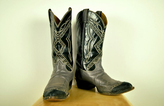 RESERVED FOR JANDMSTOLK 1980s Vintage Tony Lama Cowboy Boot size 10.5 mens