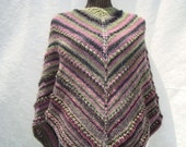 Shawl  Knit. Triangle.SALE. Wrap/Sweater.Multicolor.Green/Black/Pink.Fashion.Fall/Winter/Spring.Woman.New.Ready to ship.