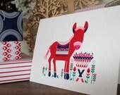 Tis the Season to be Jolly - Designer Christmas Card: Donkey