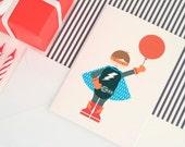Super Hero Birthday Card