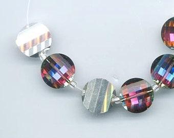 Six rarest-of-the-rare vintage Swarovski crystal pagoda beads: Art. 5107L - 14 mm - volcano