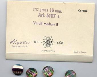 Four vintage Swarovski pagoda beads - Art. 5107L - 16 mm - vitrail medium II