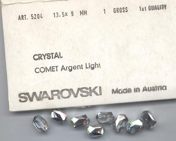 Eight pieces rare vintage Swarovski style - Art. 5204 - 13.5 x 9 mm - crystal comet argent light
