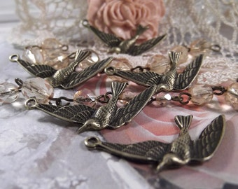 Antique Bronze - 5 Piece Flying Bird --- CHM-005
