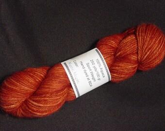 Hand Dyed Alpaca Yarn in Mystic Maple - Sport Wt 250 yds