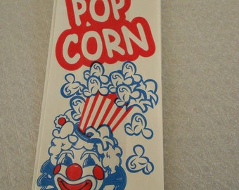 Retro Red and Blue Carnival Clown Popcorn  Bags 25