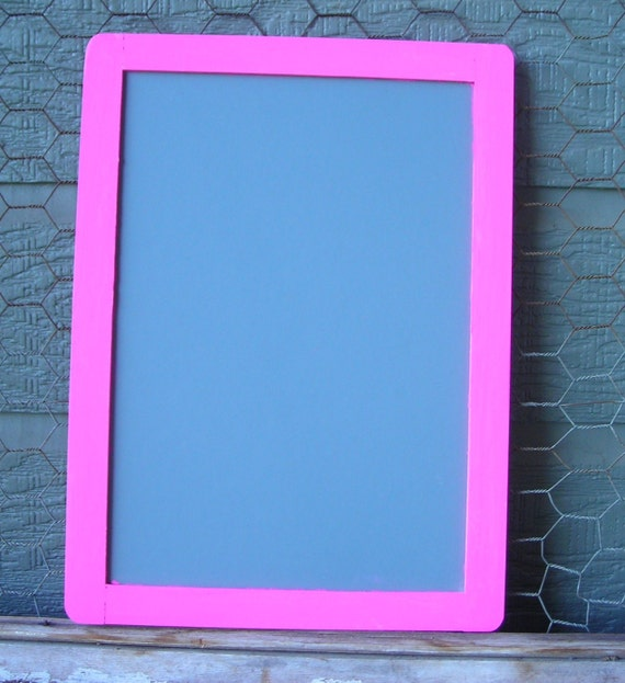 Large Pink chalkboard with chalk 7x10