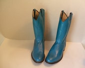 RESERVED for Jennifer Vintage Laredo Bright Turquoise Blue Womens Cowgirl Boots in Size 10 M Amazing Color
