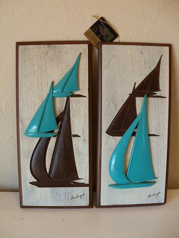 burwood arabesque art deco wall hangings carved wooden sailing. Black Bedroom Furniture Sets. Home Design Ideas