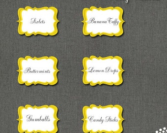 Printable Candy Label PDF