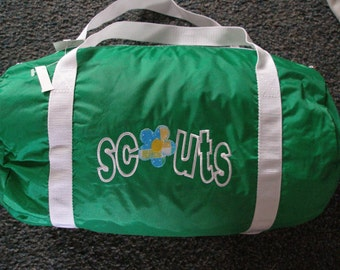 Scout Girl Duffel Bag  -  Scout Bag, Add Your Name and Troop number for FREE