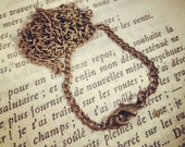 3 - Ready Made Necklace Chains, 2 mm Wide, 80 cm Long, Antique Bronze, Vintage Jewelry Supplies