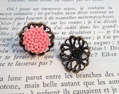 6 pcs Earring base setting Antique Bronze Ornate Vintage style Ring base Jewelry supplies 75