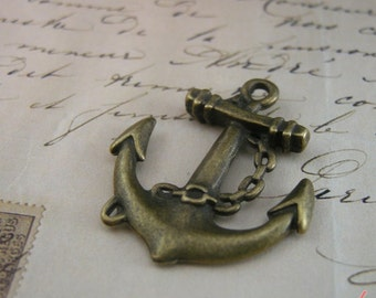 Anchor Charms Antique Bronze Anchor Charm Nautical Charm Sailor Charm Pirate Vintage Style Pendant Charm Jewelry Supplies  (BA131)
