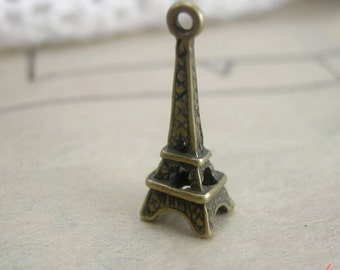 Eiffel Tower Charms Antique Bronze Eiffel Tower Charm Paris Small Charm French Vintage Style Pendant Jewelry Supplies (BC146)