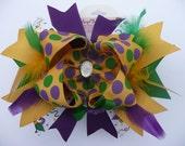Mardi Gras Hairbow