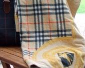 Original Vintage Burberry Towel