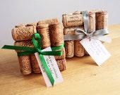 Wedding Favor, Wine Cork Coaster, Place Card, Wine Cork