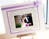 Wedding Gift, Bridal Shower Gift, Anniversary Gift, Personalized Photo Mat with your song lyrics, vows, poem, etc., Wedding Gift for Parents