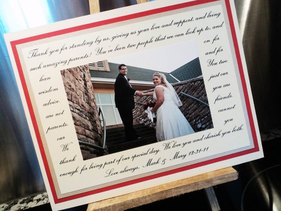 SALE: Wedding Gift for Parents, Bridal Shower Gift, Photo Mat, Custom, Personalized