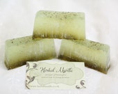 Basil Sage and Mint Soap Handcrafted Green Vegan Friendly British Etsy Team perfect gift