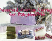 Custom Listing for Babyblue1946 Handcrafted Soaps & Cotton Face/Wash Cloth Gift Sets British Etsy Team