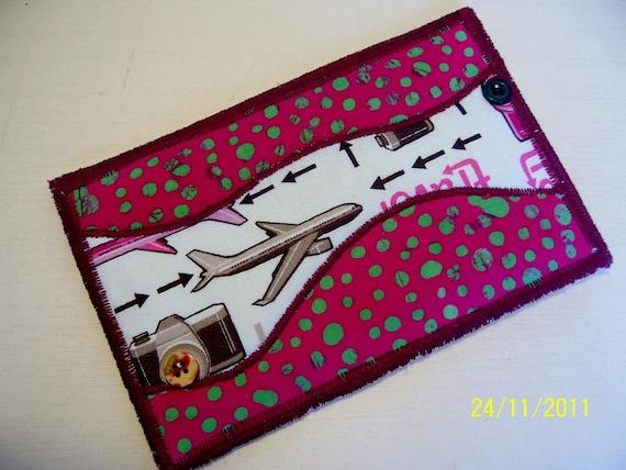 Quilted  Postcard - Handmade  Postcard - Embroidered  Postcard - Patchwork  Postcard - Planes