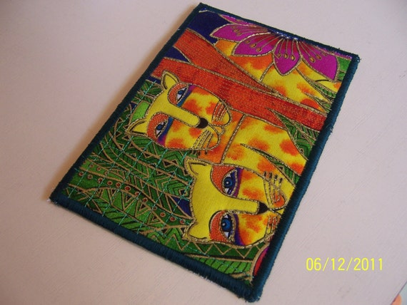 Quilted  Postcard - Special Order for Nathalie -