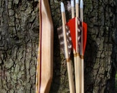 """Buffalo Bow, Bamboo, Purpleheart and Maple, 20lb at 18"""", comes with arrows, youth bow"""