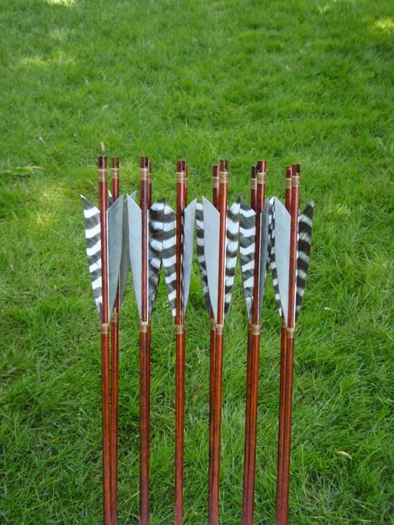 Self Nocked Arrows, 35-40b, dozen arrows, traditional wood archery arrows