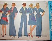 Vintage Kimono Jacket Sewing Pattern, 1970s Vintage Simplicity
