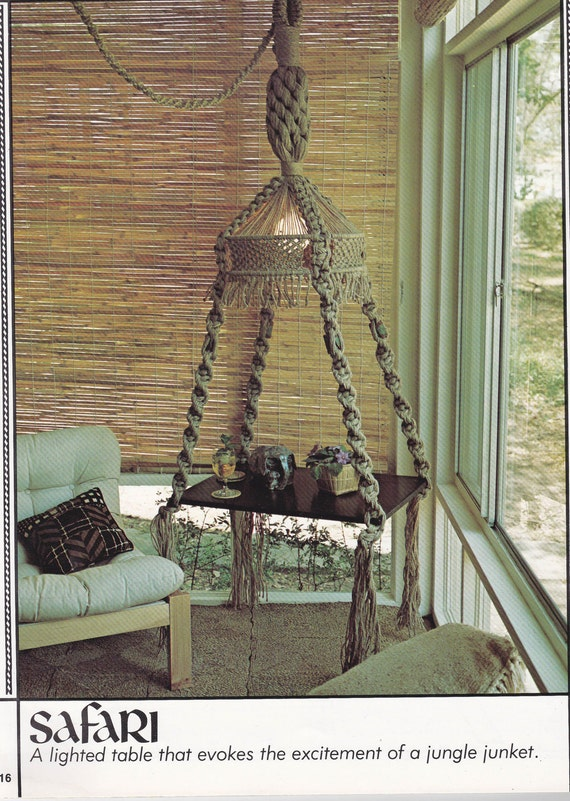 Vintage Macrame Awesomeness 1970s Macrame Fever Pattern Book