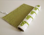 Changing Mat, Changing pad, Green Giraffe, polka dots